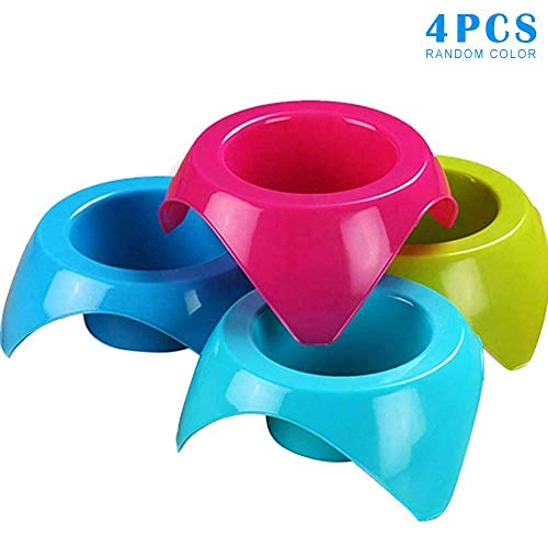 Curitely 4 Teile Faltbar Tasse Träger für Kaffee / Weich Getränk Pint / Getränk Holder-Sturdy Reusable-Festival Essential-Easy und Sicher für Heiss Getränke -
