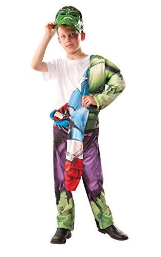 Imagen de rubie 's–disfraz de oficial marvel de los vengadores montar hulk de capitán américa deluxe, niño–pequeño