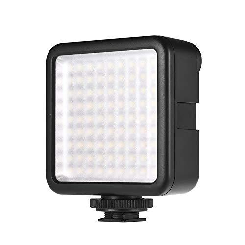 Andoer LED Mini Interlock Videoleuchte, 81 LED Video Light mit Adapter zur Montage auf Blitzschuh für Gimbal Stabilizer, DSLR Kamera Camcorder, Mini DVR als Fill Light für Hochzeit News Interview - Mini-fill-dimmer