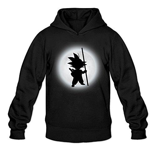 CYANY son Goku Sombra DBZ japonés Comic Character Logo Sudaderas con Capucha Sudadera Negro de la Mujer