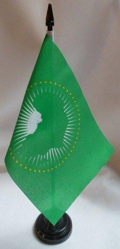 TOP BRAND 12Stück afrikanischen Union 10,2x 15,2cm Tisch Flaggen mit Sticks & ()