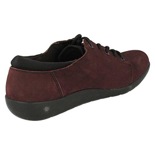Clarks Medora Bella lace up shoe Aubergine