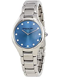 RAYMOND WEIL WOMEN'S NOEMIA DIAMOND 32MM STEEL CASE QUARTZ WATCH 5132-ST-50081