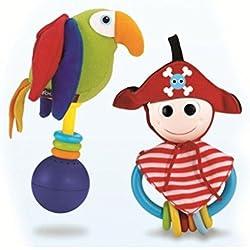 Juguete de pirata y loro.