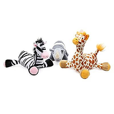 Pro Goleem Durable Indestructible Squeaker Dog Toy Soft Toys for Puppy