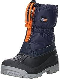 Vista Canada Polar Kinder Damen Herren Winterstiefel Snowboots dunkelblau/orange