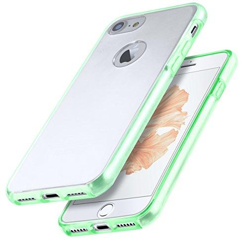 iPhone 5S Hülle Silikon Transparent [OneFlow 360 Grad Touch Cover] Dünne Schutzhülle Clear Handyhülle für iPhone 5/5S/SE Case Ultra-Slim Silikonhülle TPU PALM-GRÜN