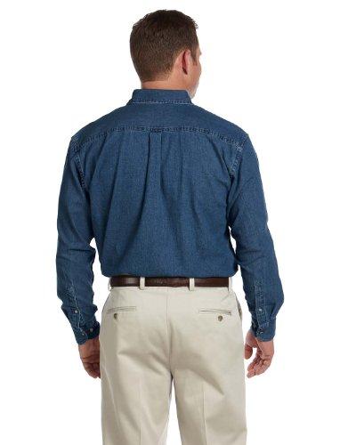 HARRITON Herren Groß Kurzarm Hemd Denim (m550t) Dunkles Jeansblau