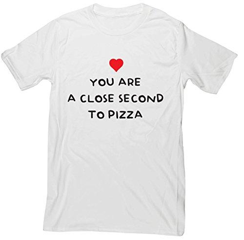 hippowarehouse-vous-sont-un-deuxime-de-prs-pizza-unisexe-manches-courtes-pour-homme-blanc-small