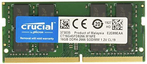 Crucial CT16G4SFD8266 16GB Speicher (DDR4, 2666 MT/s, PC4-21300, Dual Rank x8, SODIMM, 260-Pin) -