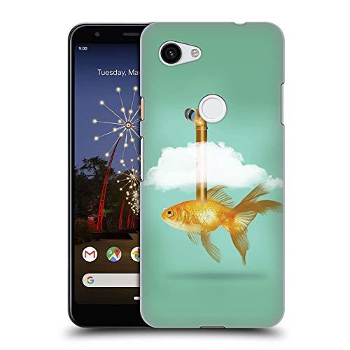 fizielle Vin Zzep Periskop Goldfisch Fisch Harte Rueckseiten Huelle kompatibel mit Google Pixel 3a ()