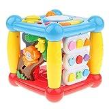 Sharplace 5 en 1 Juguete de Cubo Musical Centro de Actividades Juego de Aprendizaje Temprano para Bebés