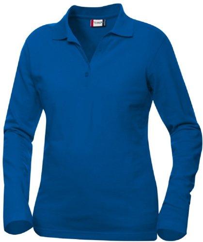 Clique Damen Poloshirt, Einfarbig Blau - Königsblau