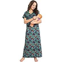 AV2 Women's Poly Cotton Maternity and Feeding Nighty