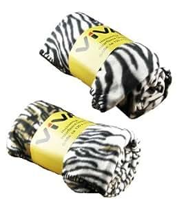 polarfleece decke zebra 170x130cm fleece decke k che haushalt. Black Bedroom Furniture Sets. Home Design Ideas