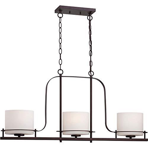 RUCHUFT Loren One Light Mini-An;nger 100 Watt A19 max. Geätzte Opalglas venezianische Bronze Fixture (Venetian Bronze, 3Lt Pendant) -