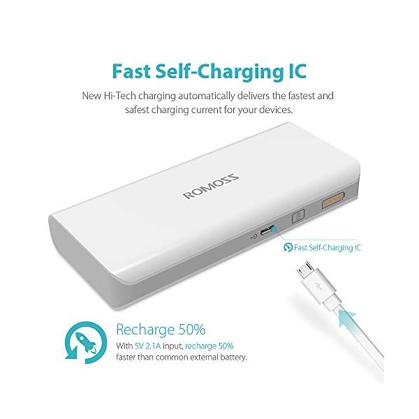 ROMOSS Power Bank 10000mAh Compatto, Carica Batterie Portatili Cellulare Universal 2 Port 2.1A Output Compatibile con La… 5 spesavip