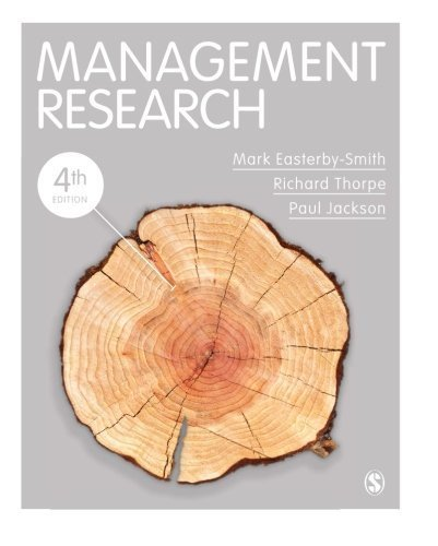 Management Research 4th edition by Easterby-Smith, Mark, Thorpe, Richard, Jackson, Paul R (2011) Paperback
