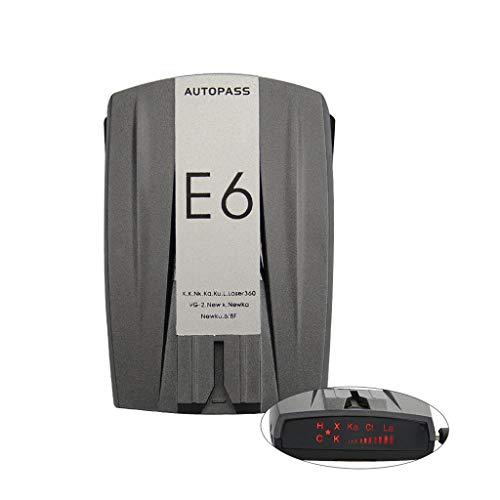 Jarredly E6 Geschwindigkeit Radar GPS, Radarwarner, 360-Grad-Erkennung Im Stadt- Und Autobahnmodus, Mobiler Passradarwarner Mit Sprachalarm