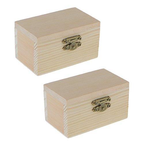 Hellery 2 Stücke Einfachen Natürlichen Holzkiste Kinder Kunst Malerei Holz Box Schmuck Storage