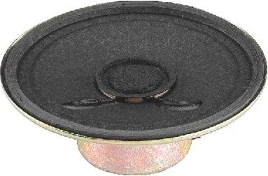 MONACOR SP-2RDP Miniatur-Einbaulautsprecher, 8 Ohm, 50 mm Schwarz -