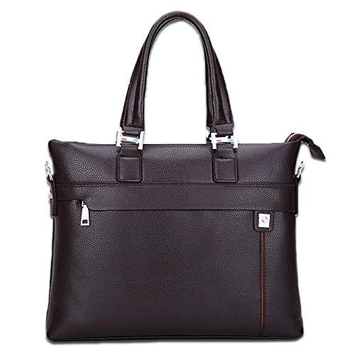 EETYRSD Herren Tasche Business Aktentasche Computer Tasche Herren Europa und Amerika Neue Schulter Messenger Bag Tote Aktentasche (Color : Brown) - Europa-messenger Bag