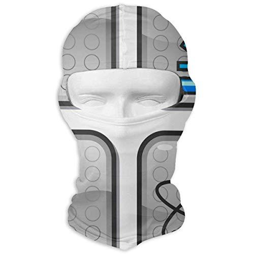 Pizeok Balaclava Science Hand Drawn Full Face Masks Ski Motorcycle Neck Hood Unisex19 - Elastic Neck Top