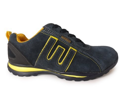 New Mens Suede Steel Toe Cap Working Safety Trainers Boots Navy Size UK 7