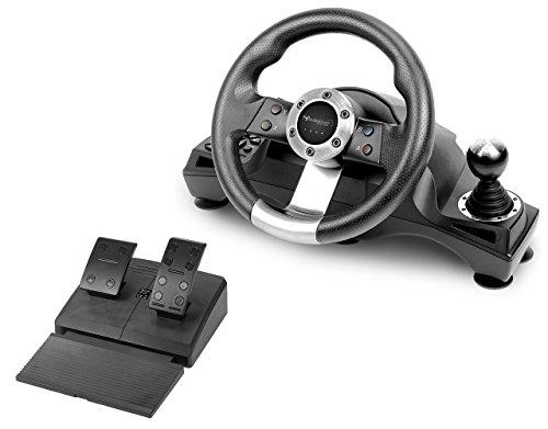 Subsonic - Volant Drive Pro Sport avec pédalier, palettes et levier de vitesse pour PS4 - Xbox One - PS3