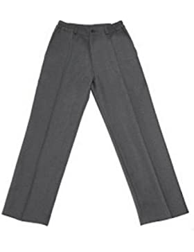 Pantalón uniforme escolar gris largo 100% poliéster- Fabricación Española - El Patio de mi Cole
