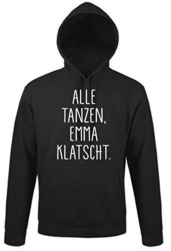 TRVPPY Herren Kapuzenpullover Hoodie Modell Alle Tanzen, Emma klatscht, Schwarz, 5XL