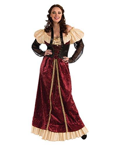 Rotes Burgfräulein Kostüm Plus Size für Fasching & Halloween (Kostüme Halloween Size Renaissance Plus)