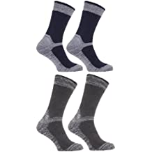 Calcetines gordos/gruesos térmicos para trabajar con puntera reforzada para caballero/hombre (paquete de 4 pares de calcetines)