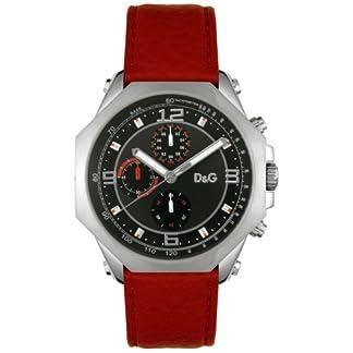 Dolce & Gabbana ose Chrono DW0103 – Reloj de mujer de cuarzo, correa de piel color rojo