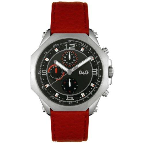 Dolce & Gabbana - DW0103 - Montre Homme - Quartz - Analogique - Bracelet cuir rouge
