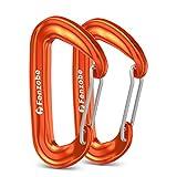 Fenzobe Karabiner Schraubverschluss/Schlüsselanhänger, Nicht zum Klettern, Karabinerhaken 1200kg Belastbarkeit Schraubkarabiner für Camping, Angeln, Wandern, Hängematten oder Reisen