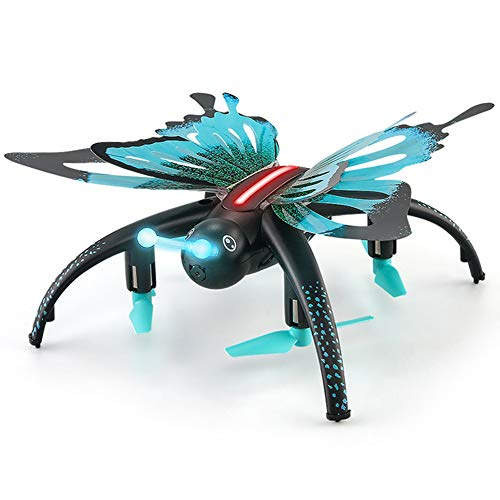 DUCKTOYS 2.4G RC Schmetterling-Drohne, WiFi 480P Luftaufnahme 360 ° Flip kopflosen Modus EIN-Knopf zurück Quadcopter, kann VR-Brillen verbinden, Kinder Spielzeug Geschenk