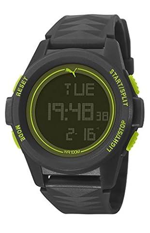 Puma Time PU911161001 - Montre Quartz - Affichage Digital - Bracelet Plastique Noir et Cadran Noir - Homme