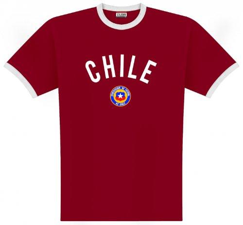 World of Football Ringer T-Shirt Chile Logo - L