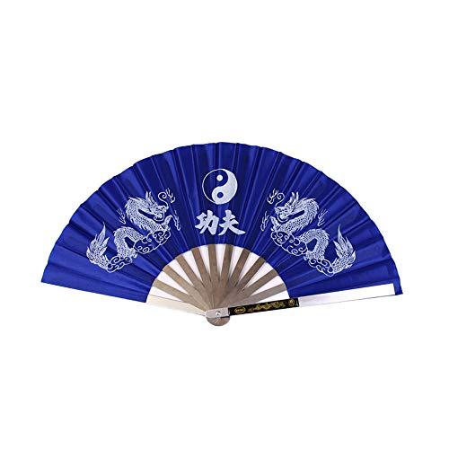 Syeytx Edelstahl Tai Chi Fan Kung Fu Wushu Turnhalle Show Dekorieren Fan rot für Baby, Weihnachten, Zuhause, im Freien und Büro
