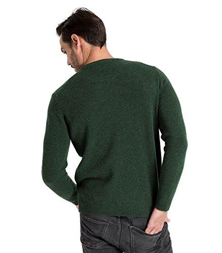 WoolOvers Lambswool Pullover mit Rundkragen - Herren (Lambswool) - L1 Tweed Green