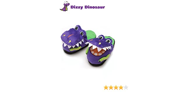 13ae0242346 Halloween Dress Up Costumes Silly Slippeez Super Comfy Kids Boys Dinosaur  Shoes Slippers Size XLarge -UK 2-3  Amazon.co.uk  Shoes   Bags