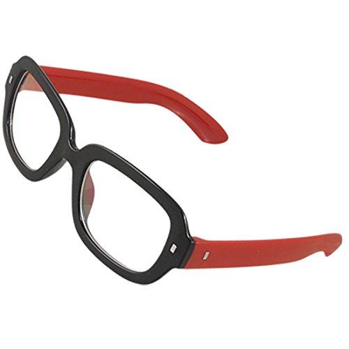DealMux Frau Mann Red Arme schwarz Vollrandfassung Kunststoff MC Linse Plain Gläser