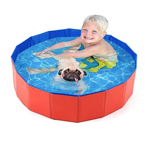 Volwco Haustier-Badewanne, faltbar, für Haustiere, Hunde, Katzen, Außenbadewanne, Badewanne, Teich, Pool und Kinderbecken
