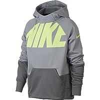 Nike B Nk Thrma Po GFX Sudadera, niños, Gris (Wolf Cool Grey), M