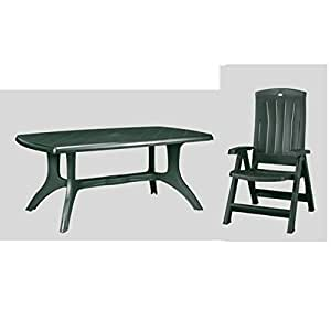 Allibert table wellington jardin 6 x chaise de jardin anthracite balcon corfu