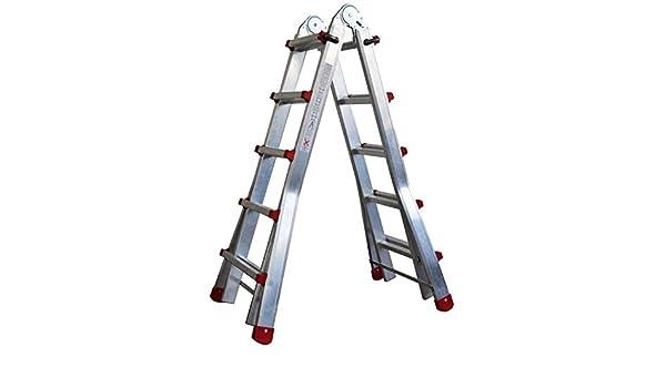 10//échelons en Aluminium AK 55-escalera t/élescopique multi-usages de 10/