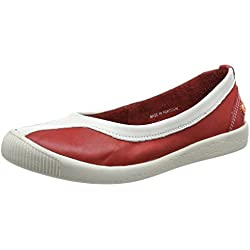 Softinos IKU315SOF, Damen Pumps , Rot - Rot (Rot/Weiß) - Größe: 37 EU ( 4 UK )