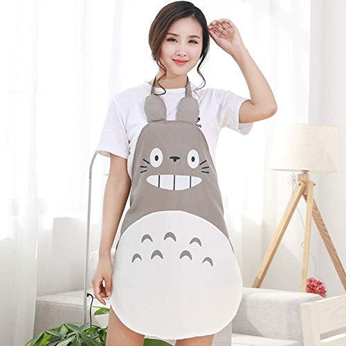 GONGFF Delantal Moda Delantal Totoro Creativo Impermeable