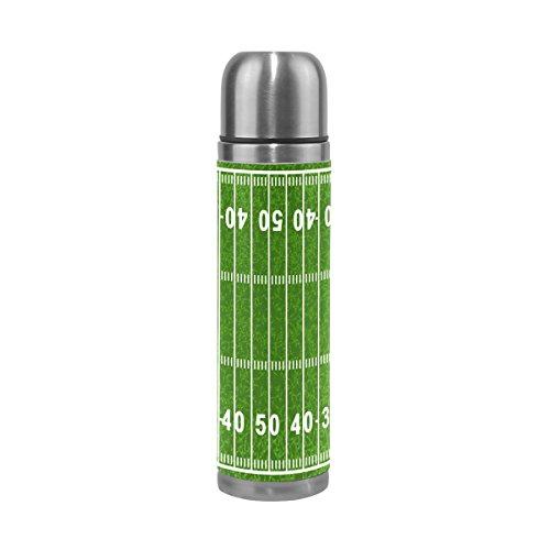 bennigiry campo de fútbol americano termo doble pared cafetera de acero inoxidable botella termo aislado al vacío 17oz